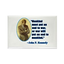 JFK Anti War Quotation Rectangle Magnet (100 pack)