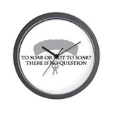 To Soar or Not To Soar (skydiving) Wall Clock