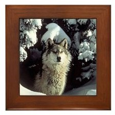 Unique Wolf Framed Tile