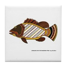 Exciting Fish Art Tile Coaster
