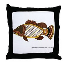 Exciting Fish Art Throw Pillow
