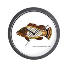 Nassau Grouper Wall Clock