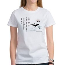 Crane & Bamboo women's T-shirt (white)