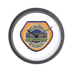 Des Moines Police Wall Clock