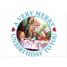 ALICE MAD HATTER unbirthday hrt BLUE copy.png Invitations