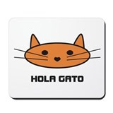 hola gato mousepad