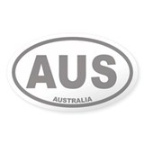 Australia AUS Oval Car Decal
