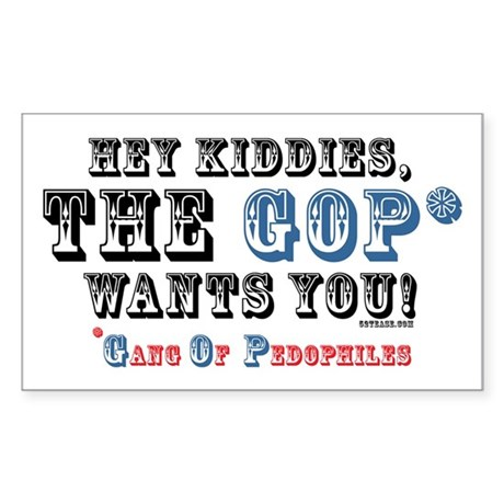 Kiddies, the GOP Wants You Rectangle Sticker