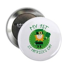 """My 1st St. Patrick's Day 2.25"""" Button"""