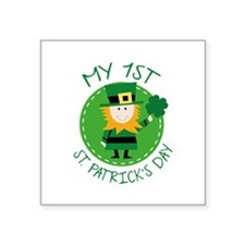 "My 1st St. Patrick's Day Square Sticker 3"" x 3"""