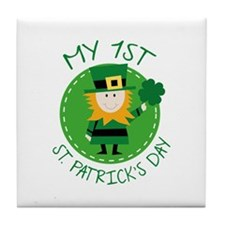 My 1st St. Patrick's Day Tile Coaster