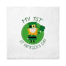 My 1st St. Patrick's Day Queen Duvet