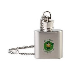 My 1st St. Patrick's Day Flask Necklace