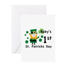 Baby's 1st St. Patrick's Day Greeting Card