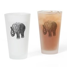 Jeweled Wedding Elephant Drinking Glass