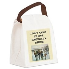 ice skate Canvas Lunch Bag