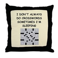 crosswords Throw Pillow