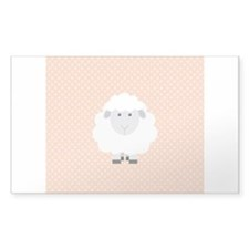 Sweet Baby Lamb on Pastel Pink and Cream Decal