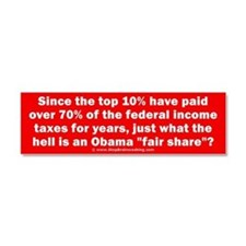 Obama fair share Car Magnet 10 x 3