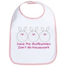 SAVE THE DUSTBUNNIES Bib