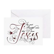 Beautiful name of Jesus Greeting Card