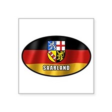 Saarland coat of arms (white letters) Sticker