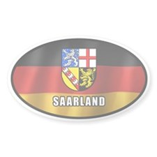 Saarland coat of arms (white letters) Decal