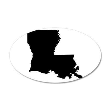 Black 20x12 Oval Wall Decal