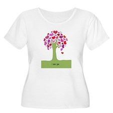 I Love You Tree Plus Size T-Shirt