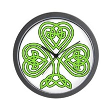 Celtic Shamrock - St. Patrick's Day Wall Clock
