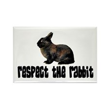 RESPECT THE RABBIT Rectangle Magnet