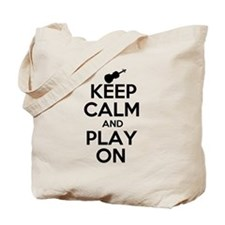 Keep Calm and Play On Violin Tote Bag