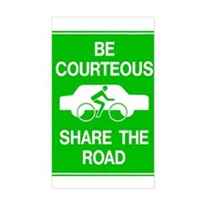 Share the Road Rectangle Decal