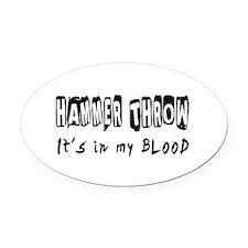 Hammer throw Designs Oval Car Magnet