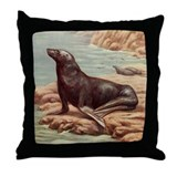 Sealion Throw Pillow