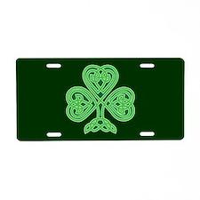 Celtic Shamrock Aluminum License Plate