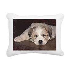 Great Pyr Puppy Face Rectangular Canvas Pillow