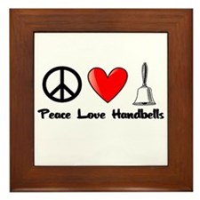Peace, Love, Handbells Framed Tile