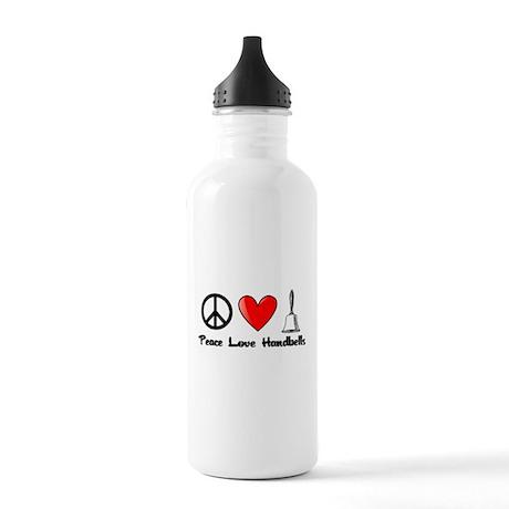 Peace, Love, Handbells Water Bottle