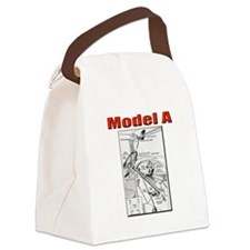 Model A Controls Canvas Lunch Bag