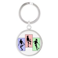 Express yourself multi.png Round Keychain