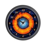 Orange and Blue Lens Wall Clock
