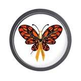 MS Awareness Butterfly Ribbon Wall Clock