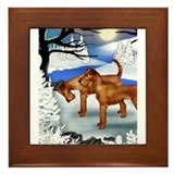 Cute Irish terrier Framed Tile