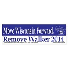 Move Wisconsin Forward Bumper Bumper Sticker