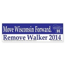 Move Wisconsin Forward Bumper Car Sticker