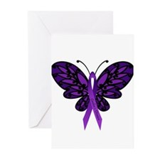 Crohns Disease Ribbon Greeting Cards (Pk of 20)