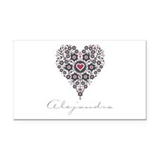 Love Alejandra Rectangle Car Magnet