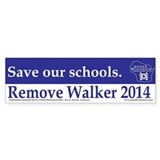 Save our Schools Bumper Car Sticker