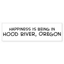 Hood River - Happiness Bumper Bumper Sticker